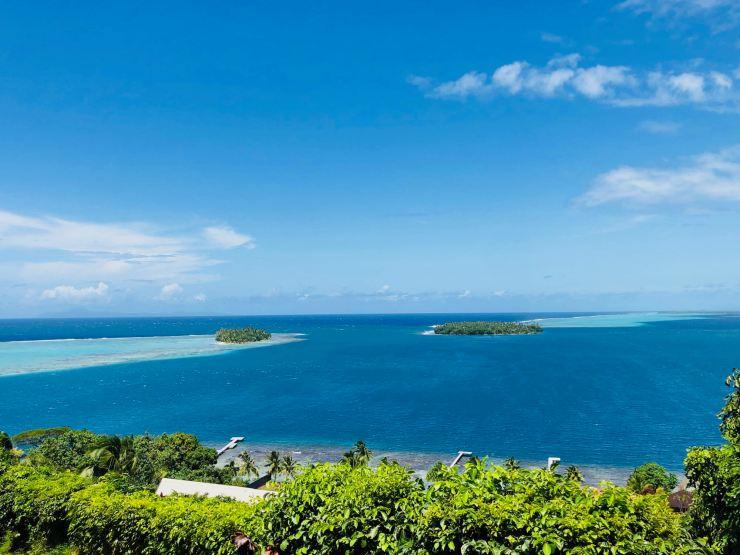 Motu Ofetaro - Vue depuis notre bungalow - Villa Tonoï- Raiatea - Polynésie