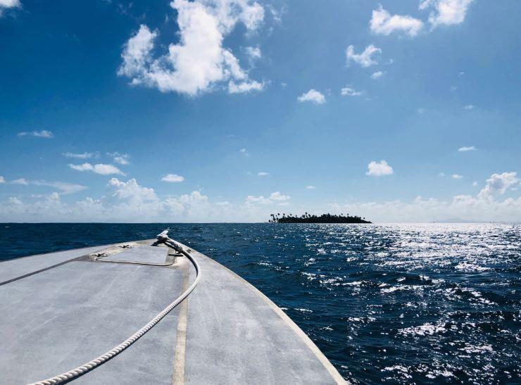 En route vers le Motu Ofetaro - Raiatea - Polynésie