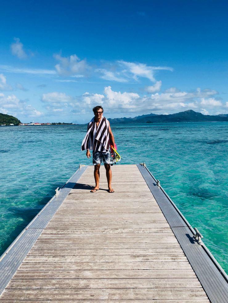 Arrivée sur le Motu Ofetaro - Raiatea - Polynésie