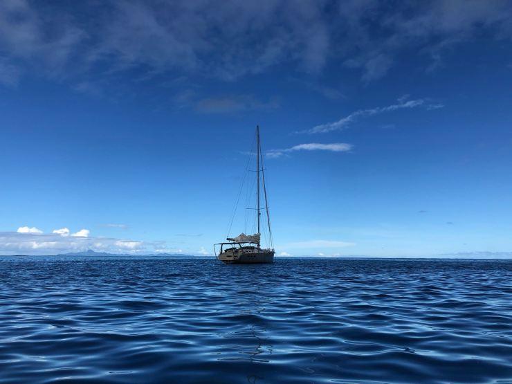 Le Kaïla nous attend tranquillement - Raiatea - Polynésie