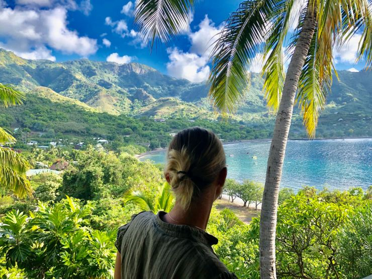 Face à la baie de Taiohae - Nuku Hiva - Iles Marquises - Polynésie