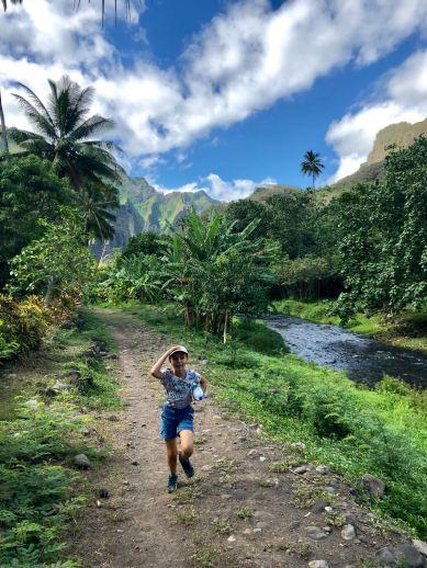 Eden courant dans la vallée d'Hakaui - Nuku Hiva - Iles Marquises - Polynésie