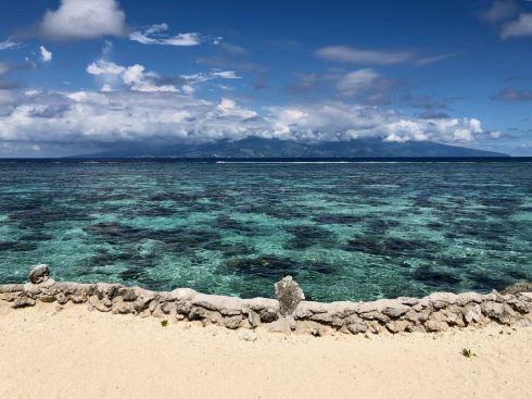 Vue sur Tahiti depuis le Lagoonarium - Moorea - Polynésie
