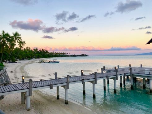 Ponton du Sofitel - Moorea - Polynésie