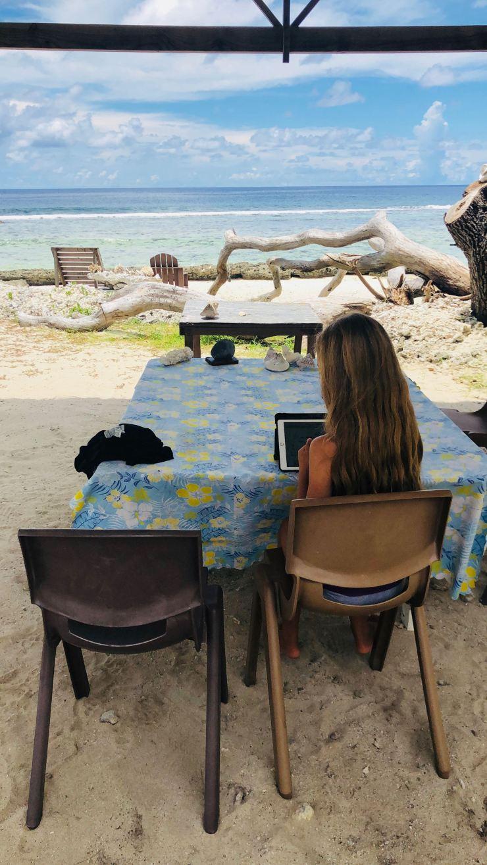 L'heure des leçons - Chez Flora - Huahine - Polynésie