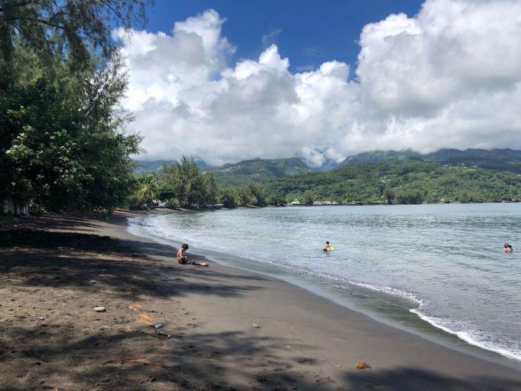 Jolie plage de la pointe Vénus - Tahiti - Polynésie
