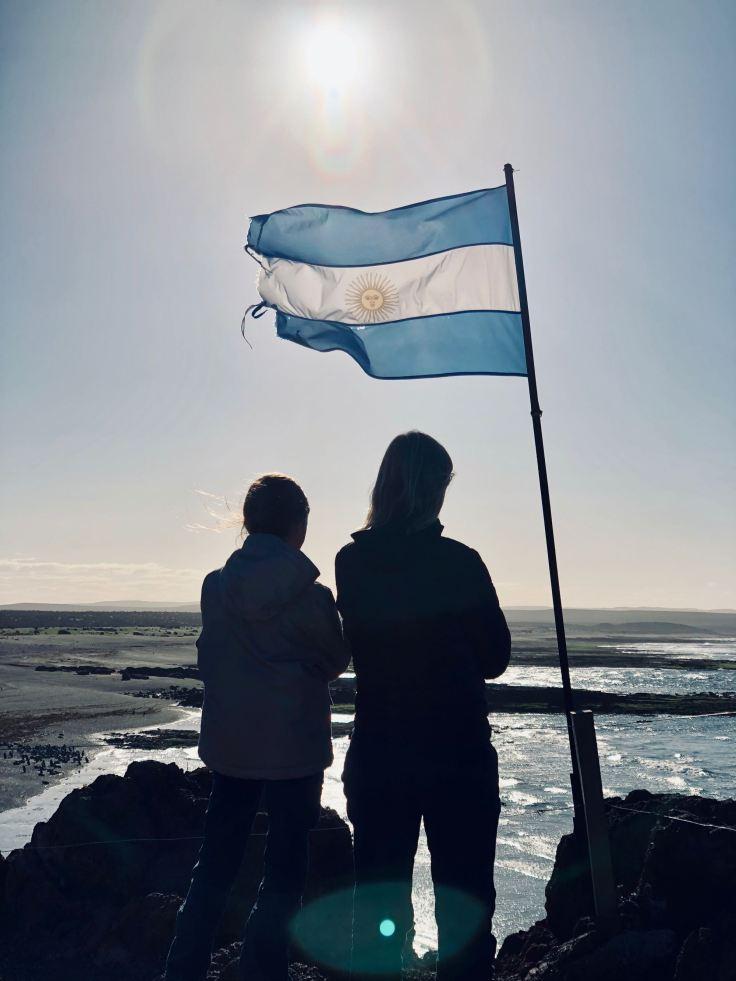 Jeu d'ombres en Argentine - Punta Tombo