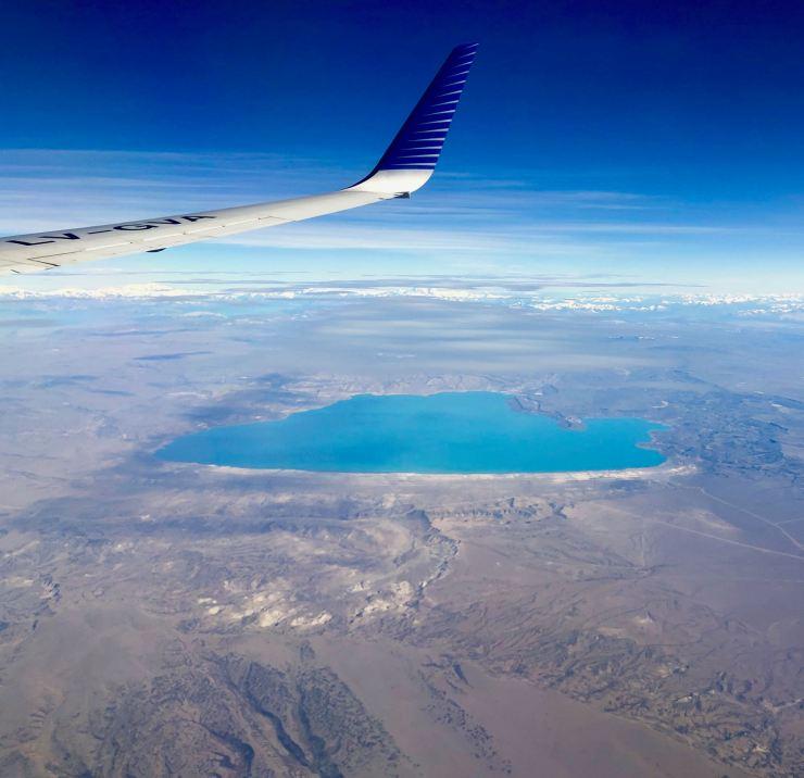 Les contreforts des Andes vus du ciel - Argentine