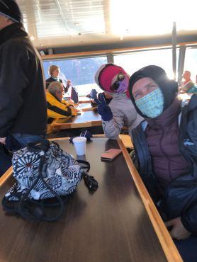 """On tente de se réchauffer ! - Sur le Lago Argentino - Parc National """"Los Glaciares"""" - Argentine"""
