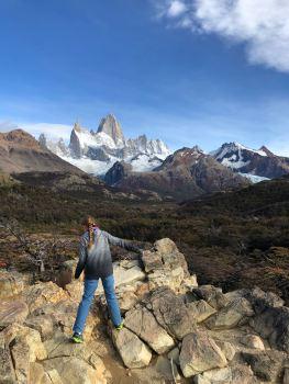 Eden devant le Fitz Roy - El Chaltén - Argentine