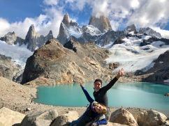 On est tout en haut ! - Laguna de los tres et Fitz Roy - Patagonie - Argentine
