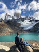 Père et fille - Laguna de los tres et Fitz Roy - Patagonie - Argentine