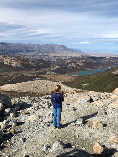 Fillette en Patagonie - Retour du Fitz Roy - Argentine