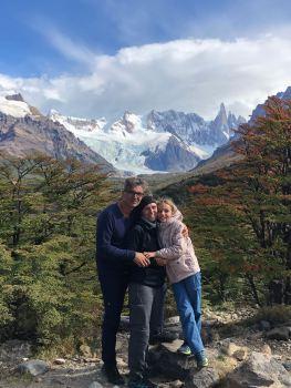 Photo de famille - Mirador de la Laguna Torre - El Chalten - Patagonie - Argentine