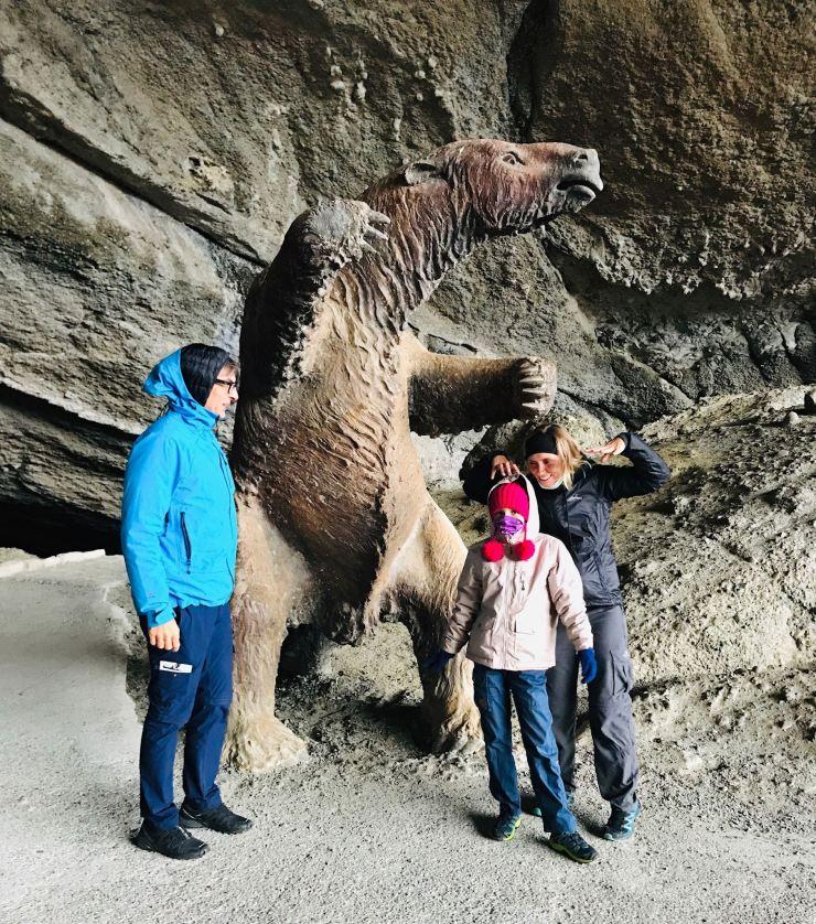 Dans la grotte du Milodon - Puerto Natales - Chili