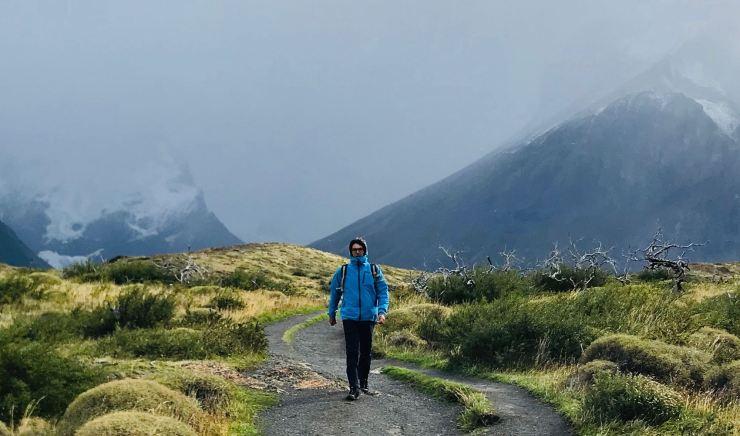 Geoffrey vers le Mirador El Cuerno - Torres del Paine - Patagonie - Chili