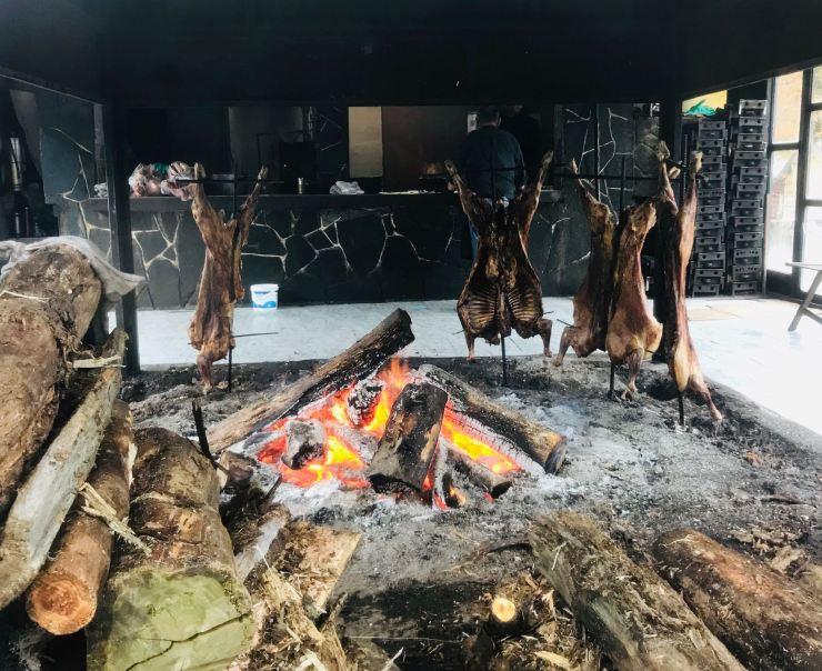 Cordero Asado - Ruta 3 - Terre de Feu - Argentine