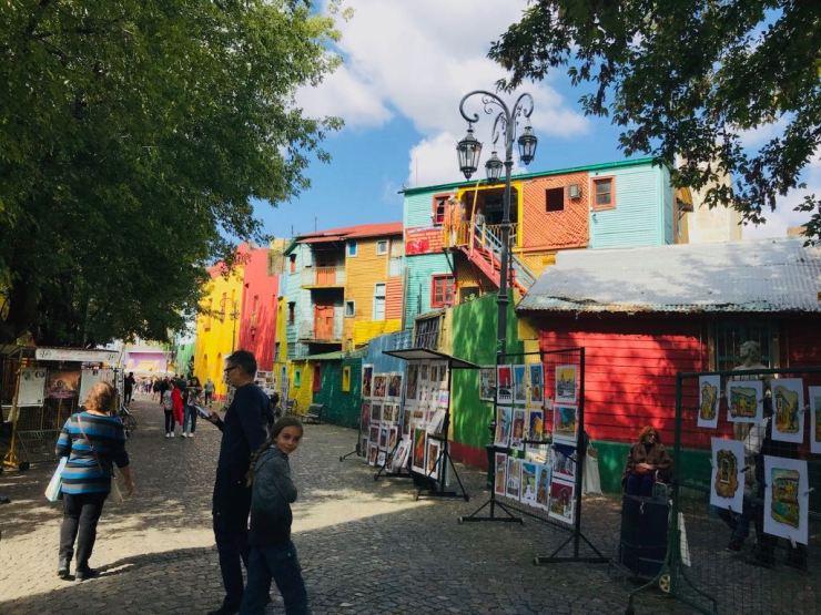 Aquarellistes de Caminito - Quartier de la Boca - Buenos Aires - Argentine