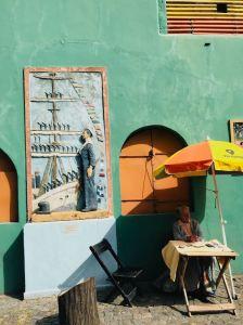 Diseuse de bonne aventure sur Caminito - Quartier de la Boca - Buenos Aires - Argentine