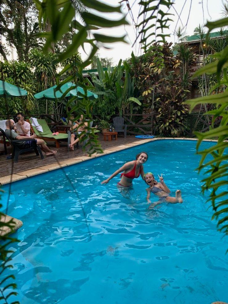 Dans la piscine bien fraiche - Puerto Iguazu - Argentine