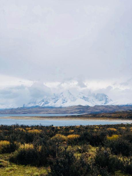 Steppe, lac et sommets - Torres del Paine - Patagonie - Chili