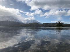 Reflets sur le lago Grey - Torres del Paine - Patagonie - Chili