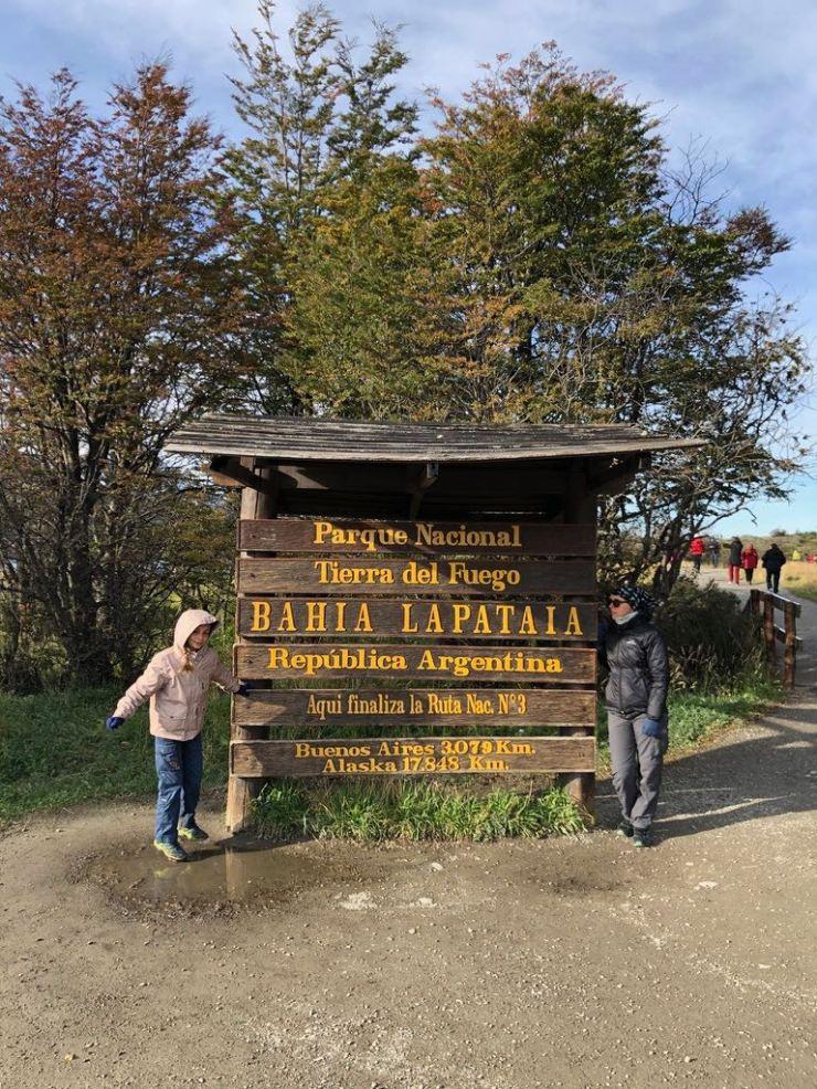 Fin de la Ruta 3. - Parc National - Terre de Feu - Argentine