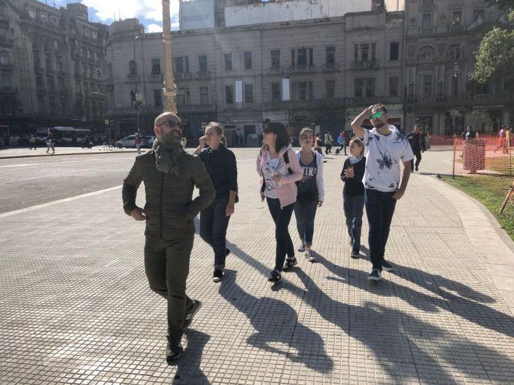 Premiers pas ensemble dans Buenos Aires - Argentine