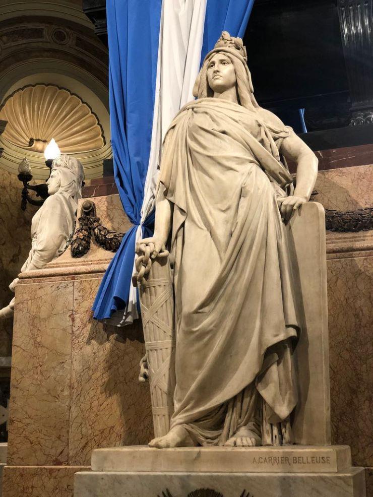 Dans la cathédrale - Plaza de Mayo - Buenos Aires - Argentine