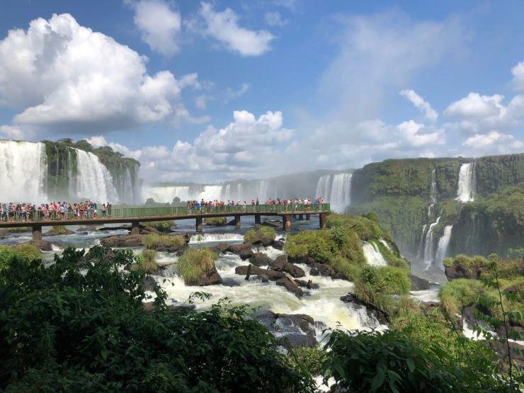 Passerelle sur l'eau - Iguazu - Brésil
