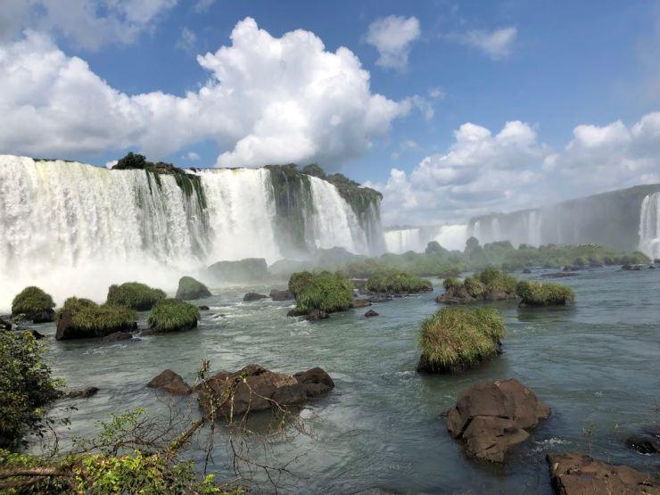 Chutes d'Iguazu depuis les passerelles côté Brésil