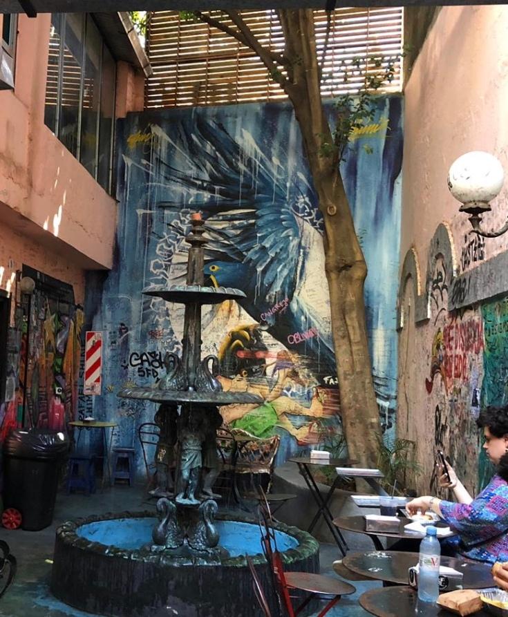 Fresque murale dans Burger Joint - Palermo Viejo - Buenos Aires - Argentine