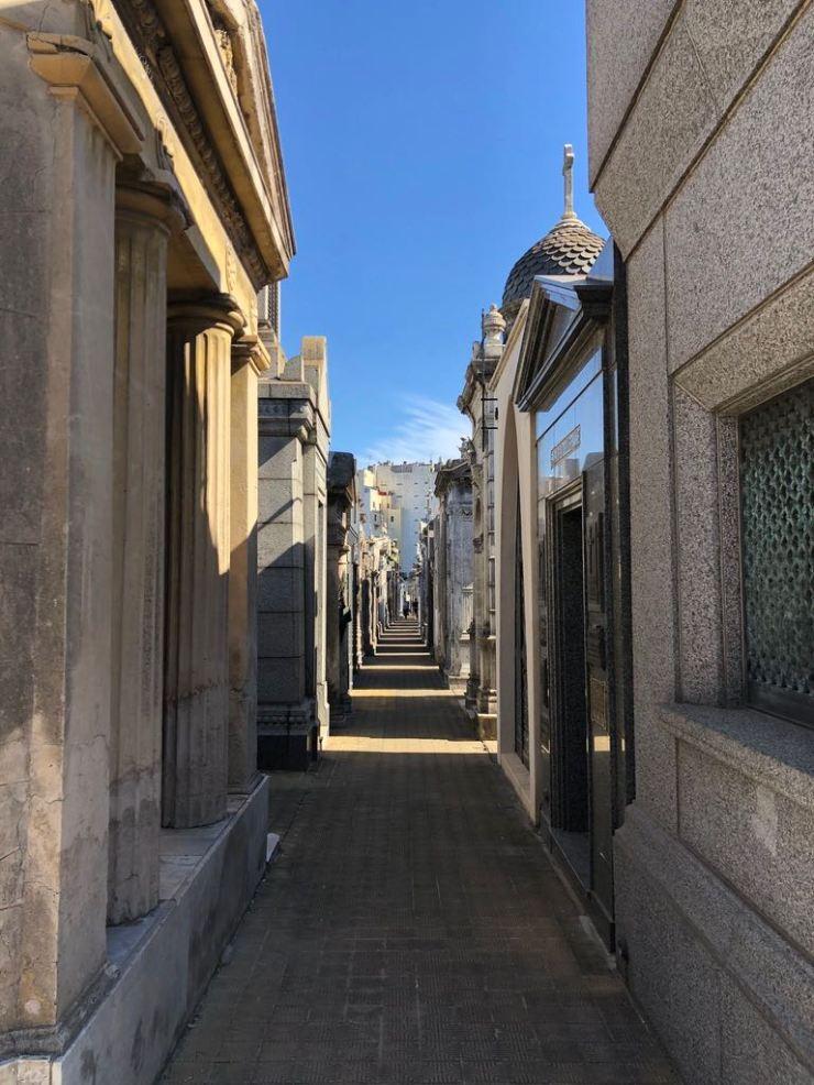 Allée du cimetière de Recoleta - Buenos Aires - Argentine