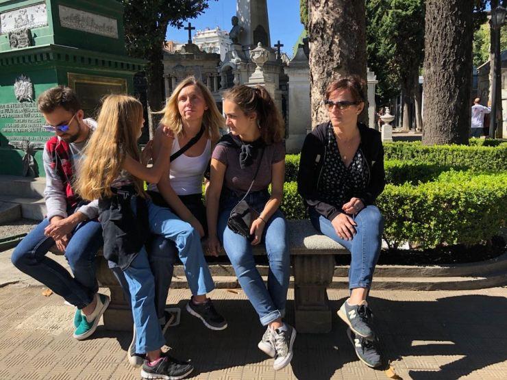 Petite pause dans le cimetière de Recoleta - Buenos Aires - Argentine