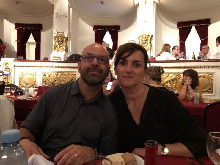 Eric et Caroie, tout beaux pour le spectacle de Tango - Buenos Aires - Argentine