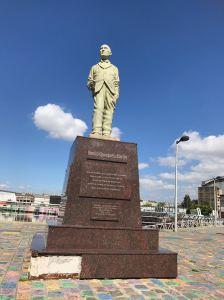 Statue de Quinquela Martin, celui qui a donné ses couleurs à La Boca - Buenos Aires - Argentine
