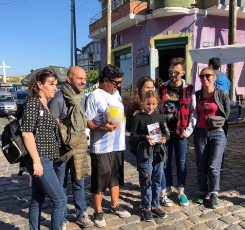Tous avec Diego Maradona - Quartier de la Boca - Buenos Aires - Argentine