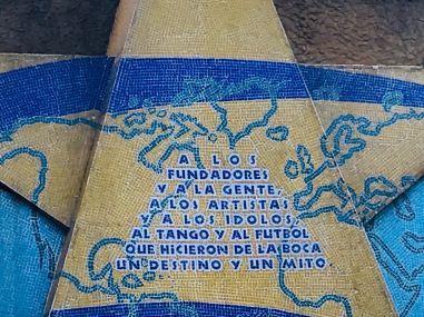 Hommage au quartier, sur la Bombonera - Quartier de la Boca - Buenos Aires - Argentine