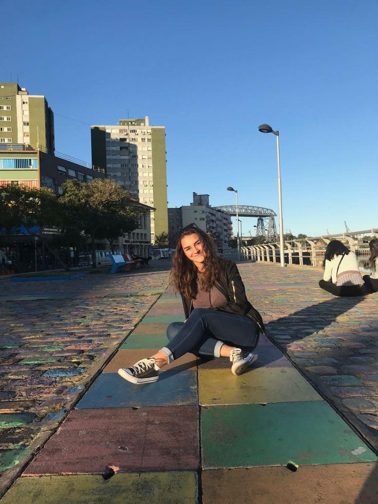 La belle Eline sur les quais de la Boca - Buenos Aires - Argentine