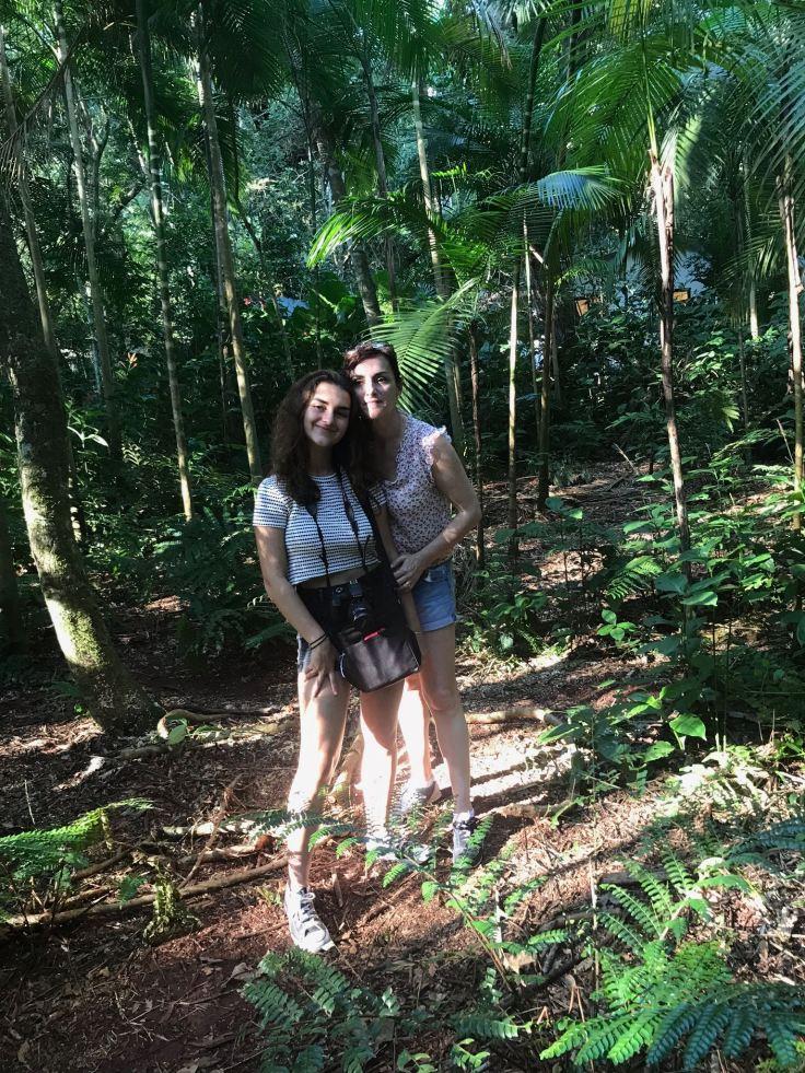 Eline et Carole au Parque Das Aves - Iguazu - Brésil