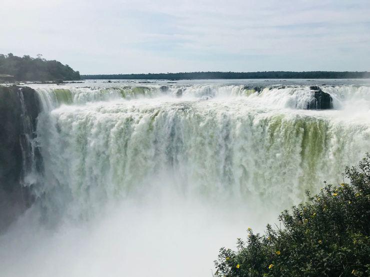 Vue du Salto Union - Garganta del Diablo - chutes d'Iguazu côté Argentine