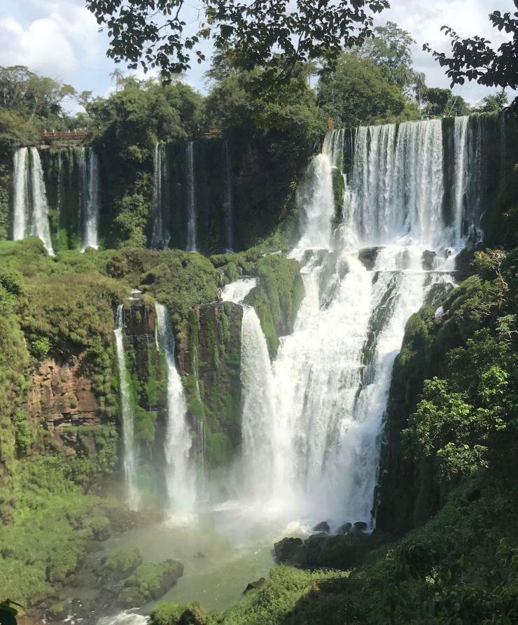 Cascades de chutes - Les chutes d'Iguazu depuis le sendero Inferior - Côté Argentine