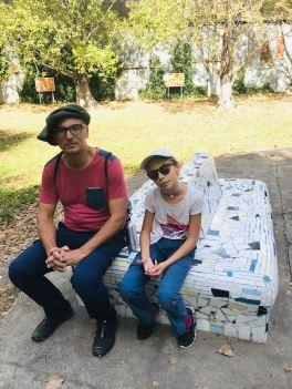 Geoffrey et Eden à Santa Coloma - Pampa - Argentine