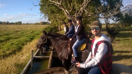 La famille Duarte sur le top départ - Pampa - Argentine