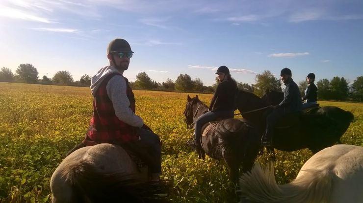 La famille Duarte à cheval - Pampa - Argentine