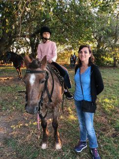 Eden et Carole - Leçon de cheval dans la Pampa - Argentine