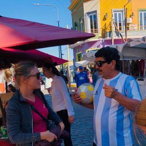 En conversation avec Diego - Quartier la Boca - Buenos Aires - Argentine