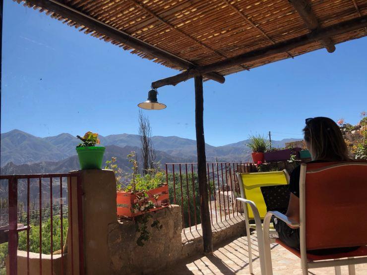 Sur notre terrasse - Tilcara - Nordeste - Argentine