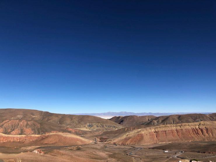 Première vision des Salinas Grandes - Nordeste - Argentine