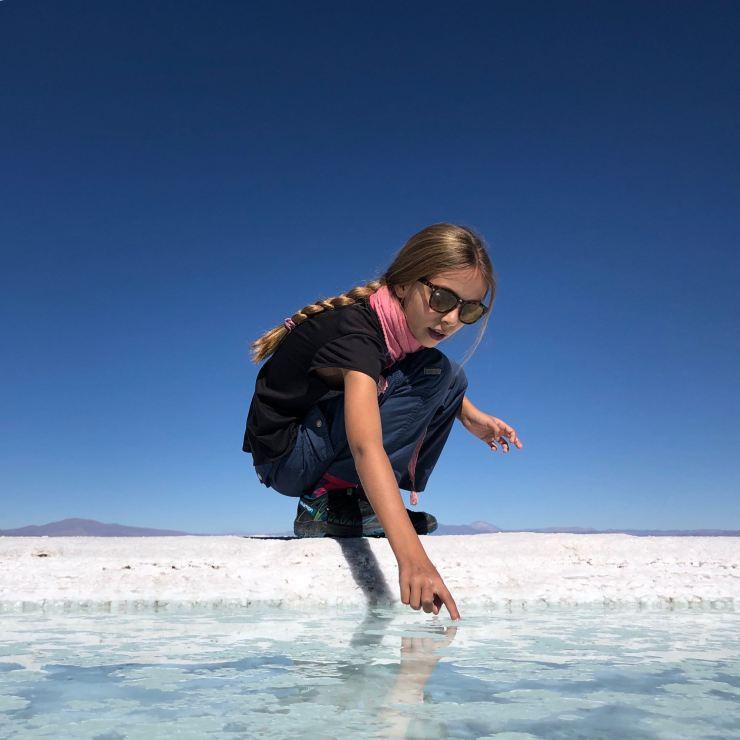 Elle est salée l'eau ? - Salinas Grandes - Nordeste - Argentine